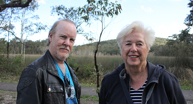 Composer/ Conductor Lee Bracegirdle and his Mother-In-Law Heidi Gerstner are regular visitors to our shores. Photo: Jewell Drury