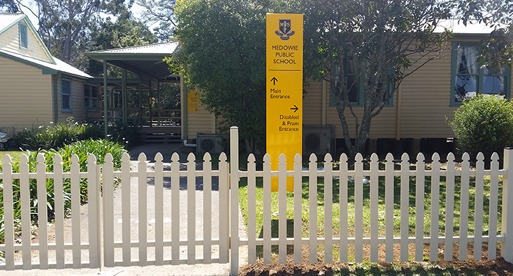 1.The brand new fence at Medowie Public School
