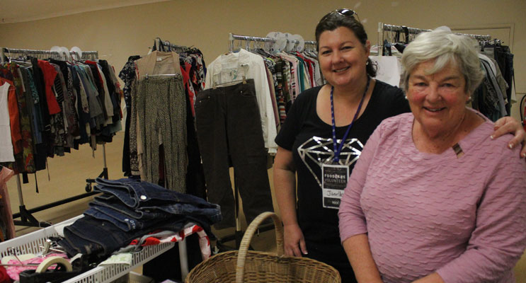 Clothing Care Volunteers Barbara and Ps Janelle