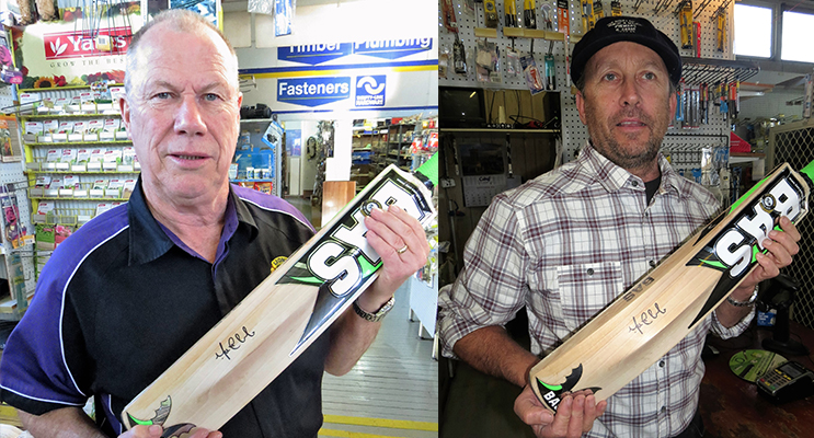 CRICKET BAT: Roger Dixon(left) CRICKET BAT: Bradley Allen(right)