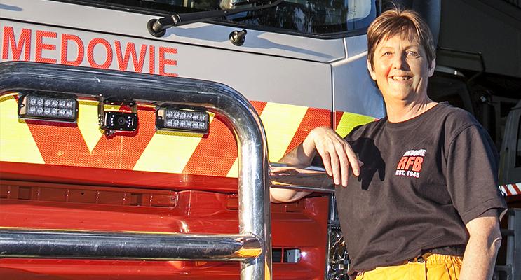 Louise Morgan, Medowie RFS brigade volunteer member
