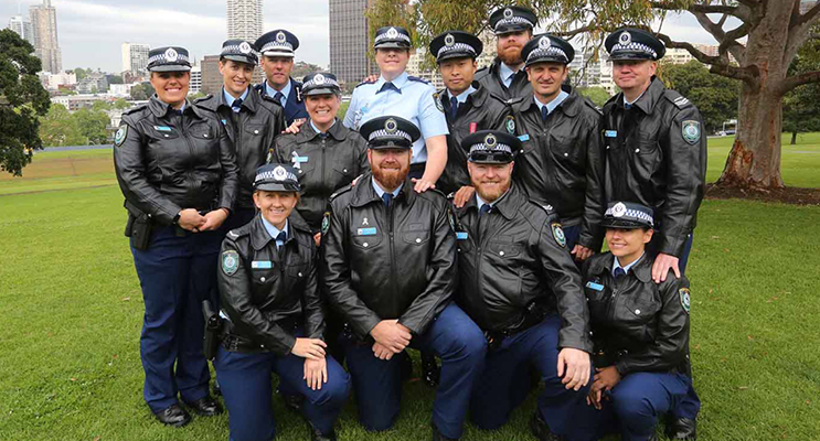 1.Port Stephens LAC Police Officers who attended the services.