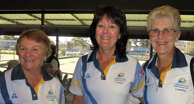 TEA GARDENS TEAM: Lorraine Harvey, Karen Green and Loretta Barker.