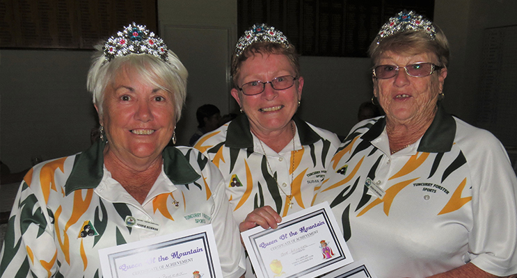 WINNERS: Roslyn Brown, Susan Leonard and Terrie Bowman from Tuncurry/Forster Sporties