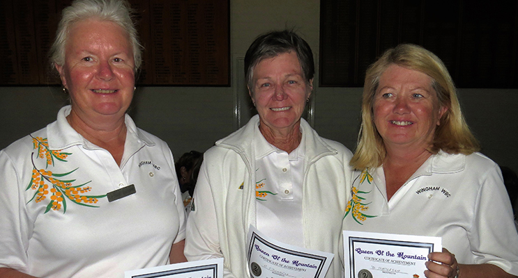 WINGHAM TEAM: Second place winners Leonie Gilford, Claudia O'Donnell and Denise Matheson