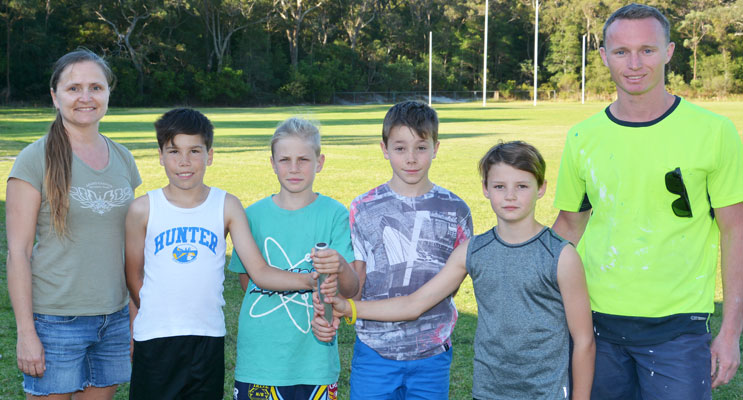 coming Under 11's Relay Team representing Tomaree Primary School. 		Photo: Square ShoePhotograhy
