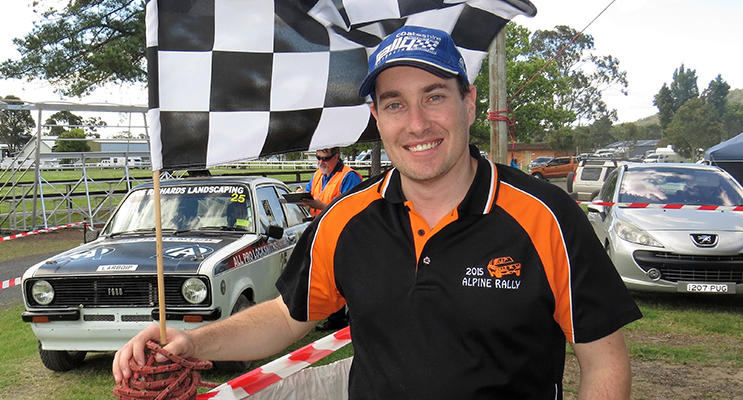 CHECKERED FLAG: AMSAG member Michael Bannon at the finish line
