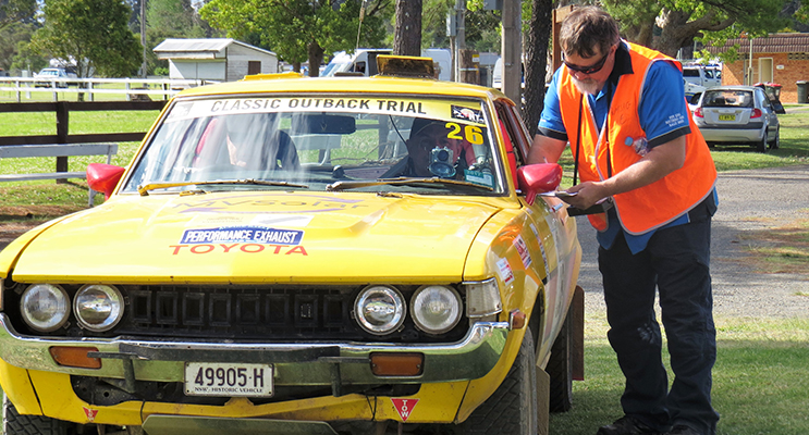 RALLY: Teams started each stage of the race from Bulahdelah Showground