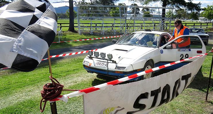 START: Teams began the race from Bulahdelah Showground