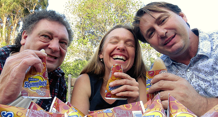 SUNNYBOYS: John Sahyoun, Georgina Cunich and Kenny Richardson share their memories.