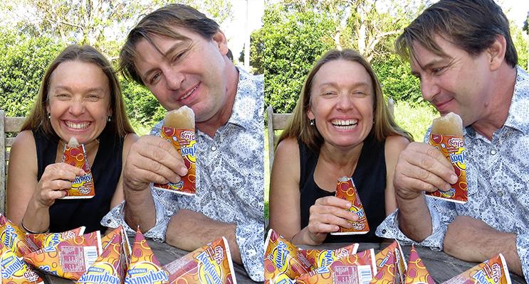 MEMORIES: Georgina Cunich and Kenny Richardson share a final Sunnyboys.