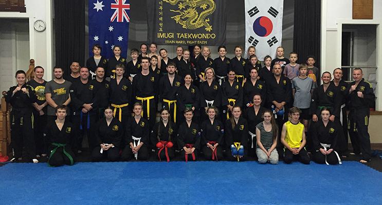 Students at Imugi Taekwondo prepare for National titles. Photo: Kelly O'Brien