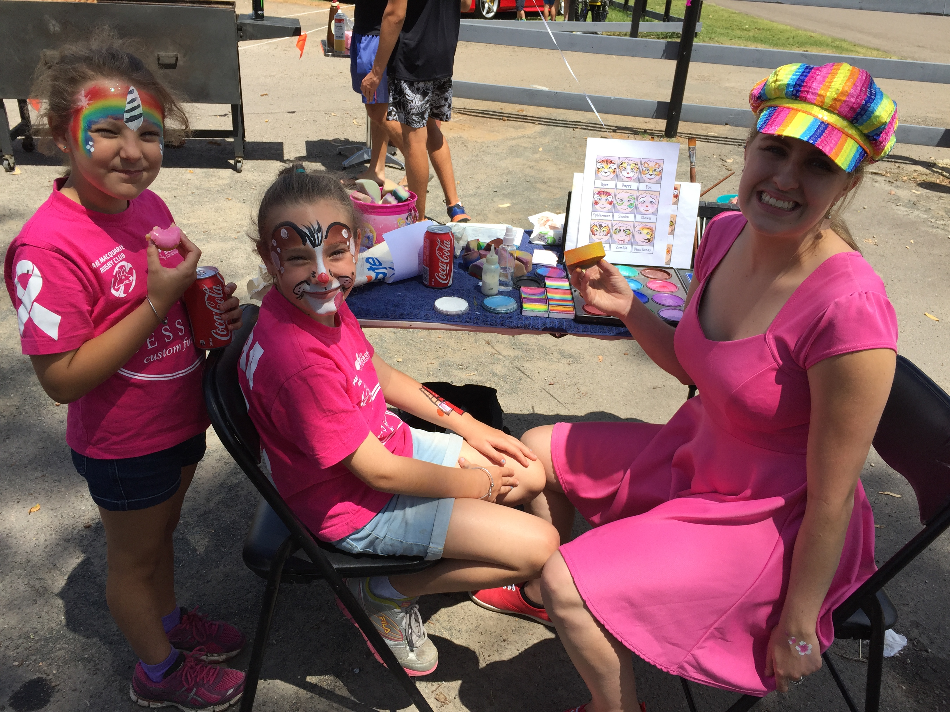 Face painting for the kids was a hit.