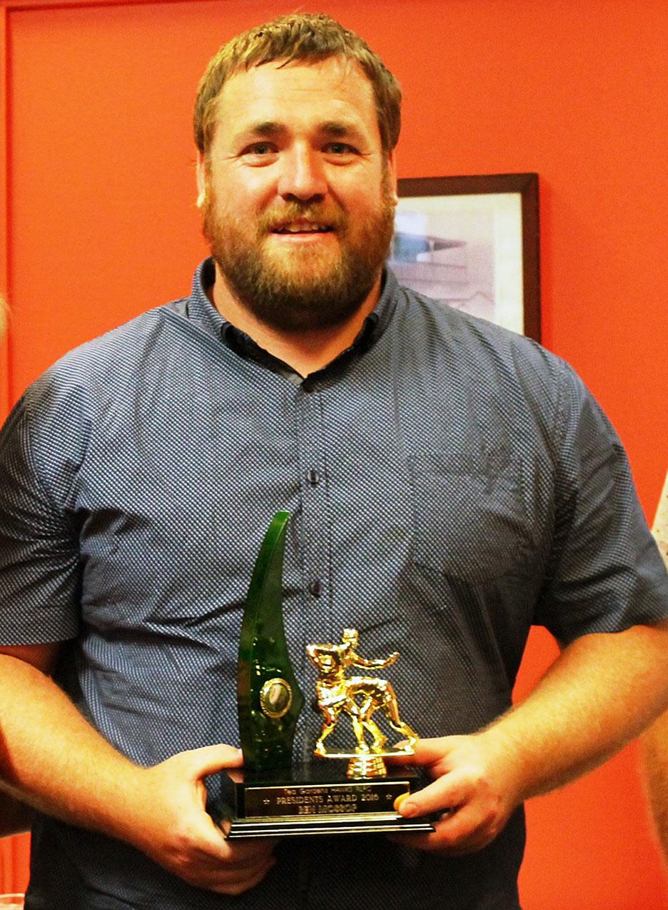 President's Award Ben Mossop.