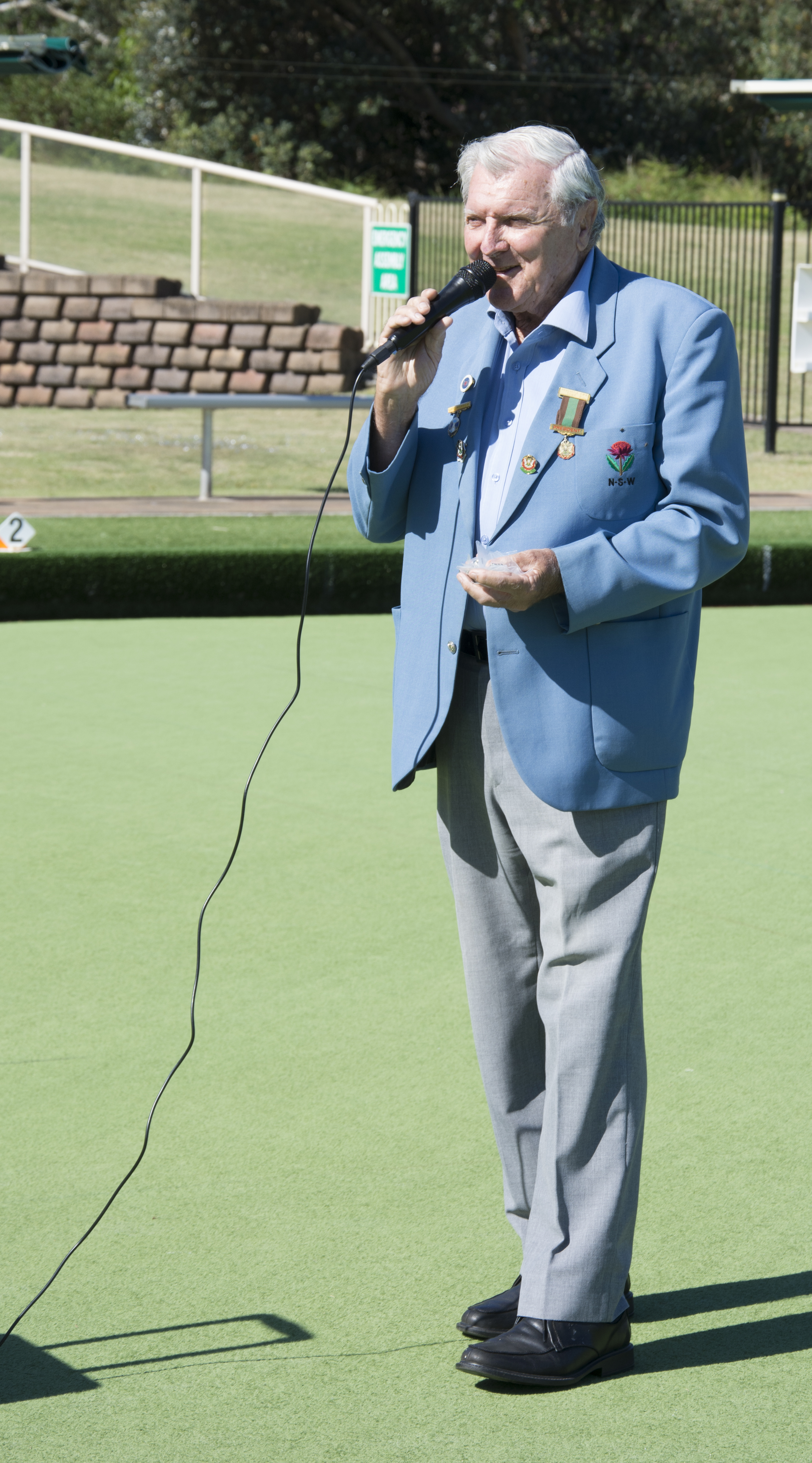 John Smith, President, Newcastle District Bowls Association. Photo by: Square Shoe Photography