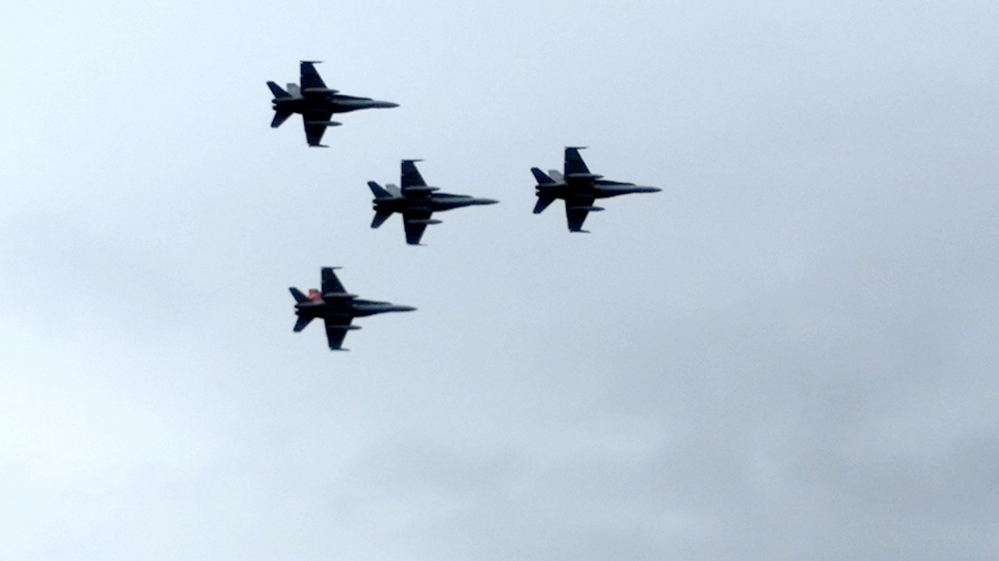 One of the spectacular fly overs.