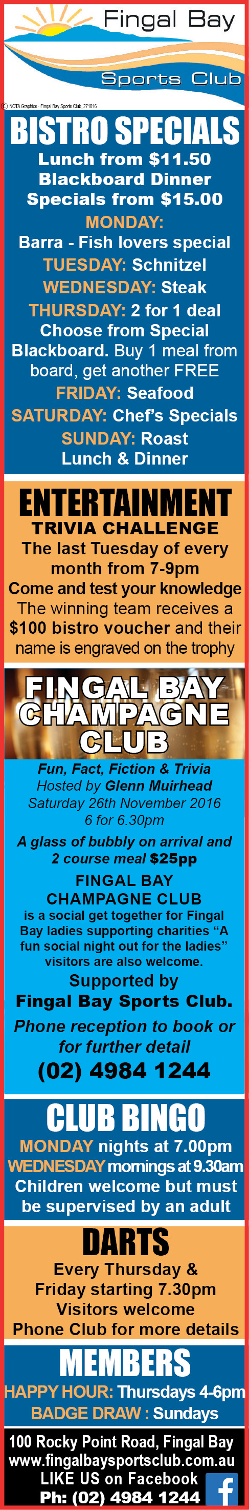 Fingal Bay Sports Club