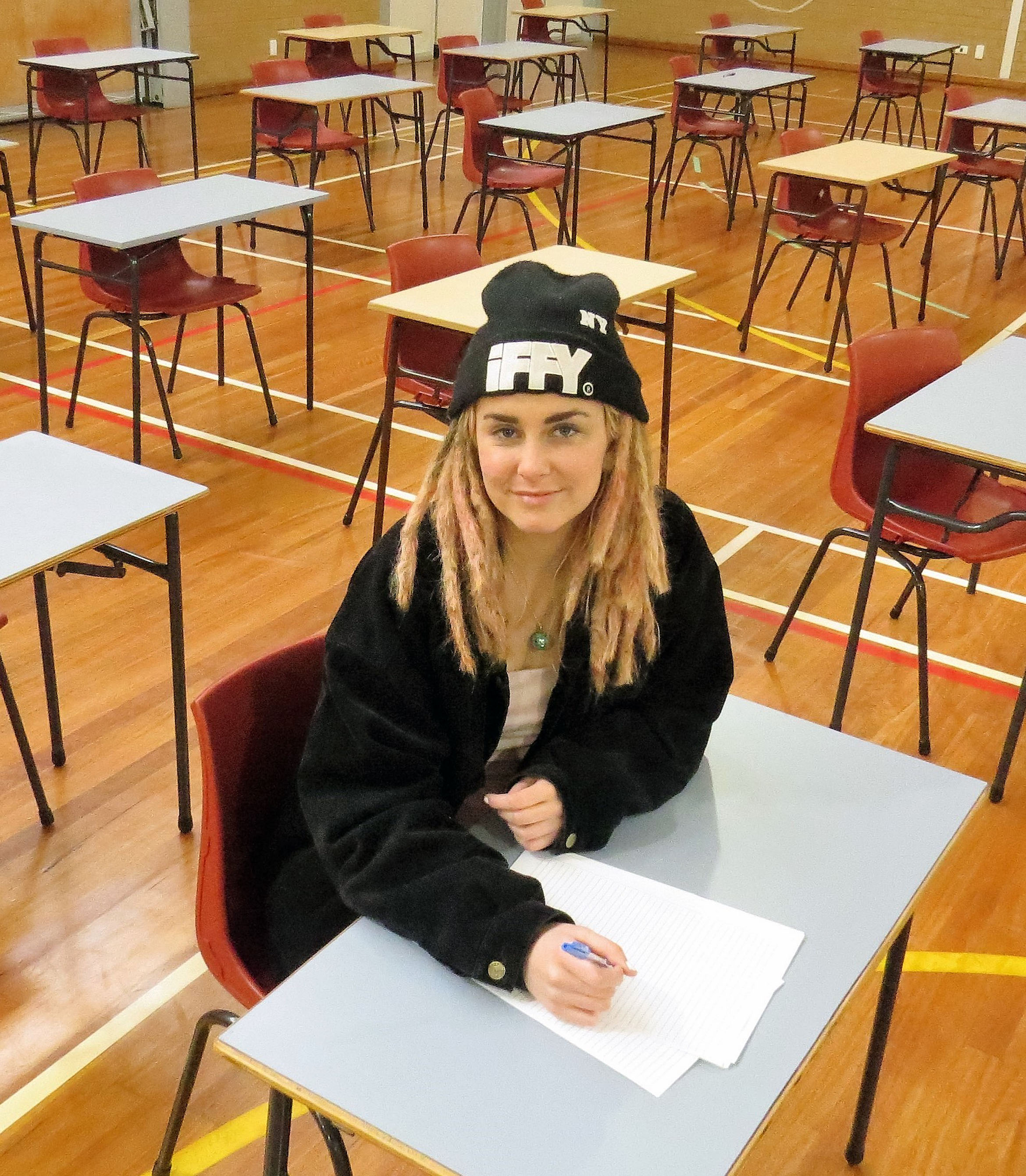 HSC EXAMINATION: Charli Burns from Tea Gardens sat the Community and Family Studies exam on her own.