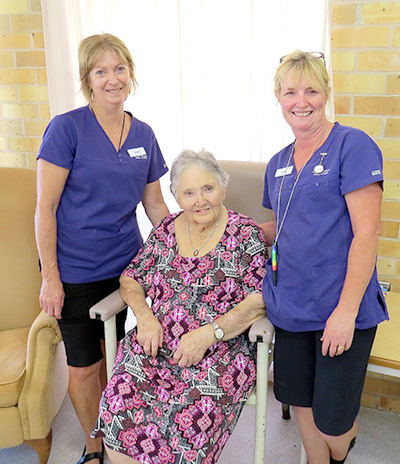 QUALITY CARE: Terese Coleman, Jane Campbell and Alison Benson.