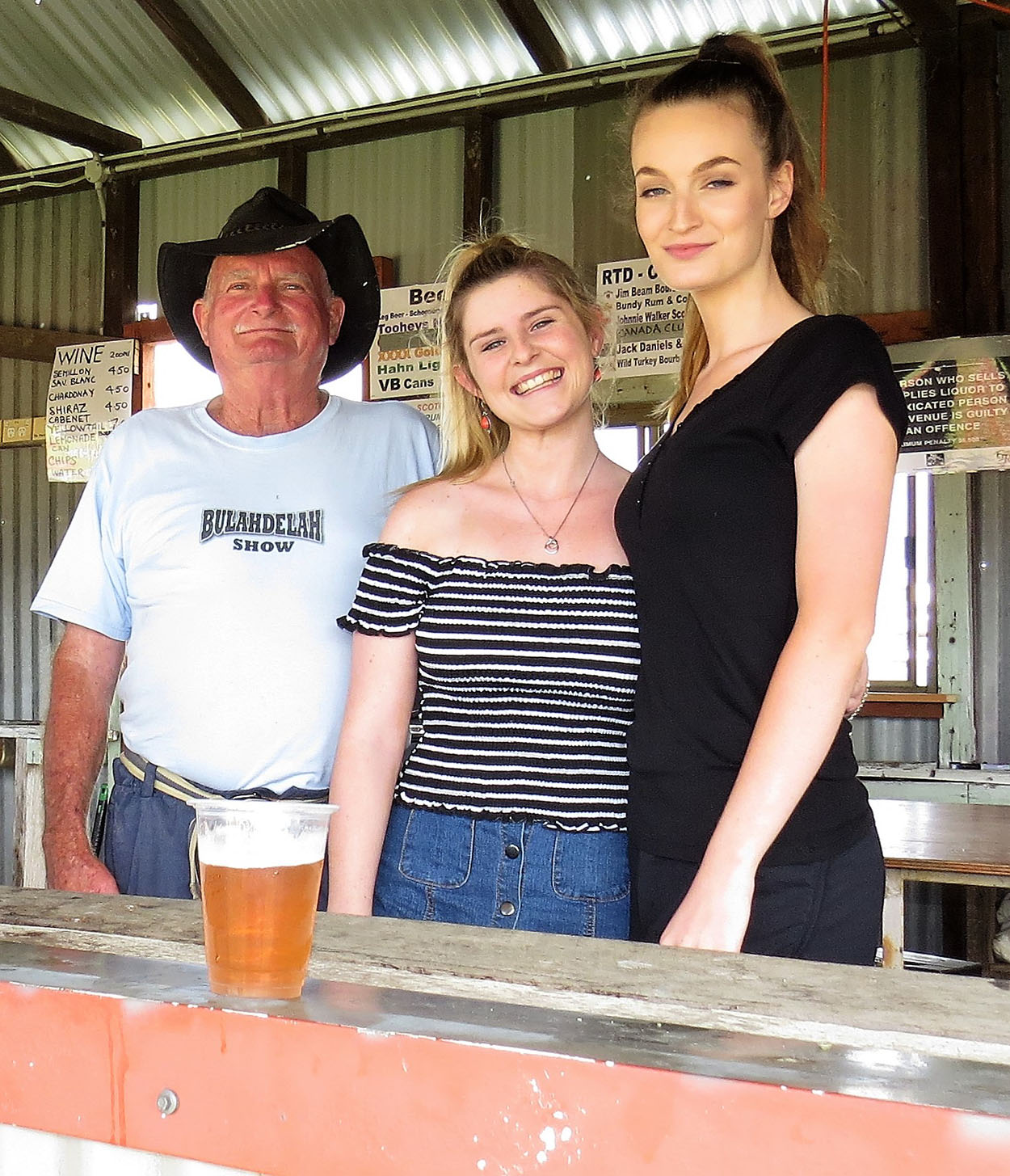 RENOVATED BAR SHED: Andrew Moncrieff, Chloe Shultz and Hannah Rietveld