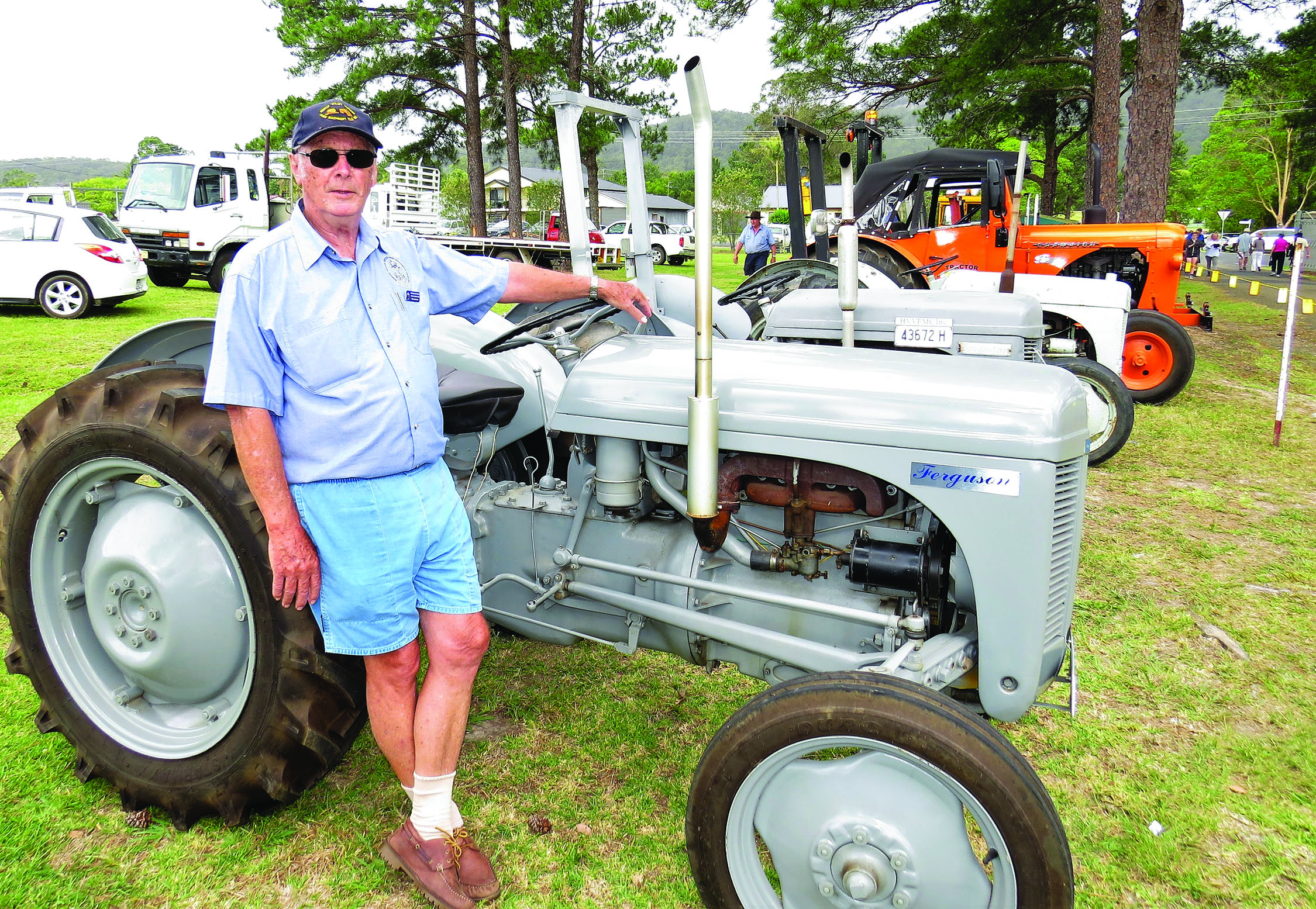 MACHINERY: Don Lansdowne with the tractor display