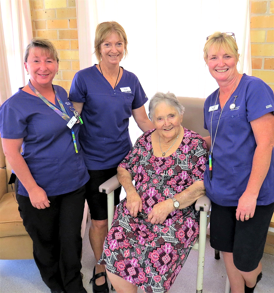 QUALITY CARE: Anna McKendry, Terese Coleman, Jane Campbell and Alison Benson.