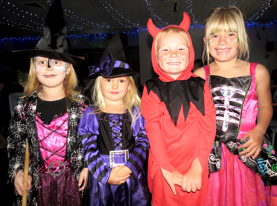 HALLOWEEN: Annabelle Smith, Anna Styles, Cody Loveday and Breanna Loveday.