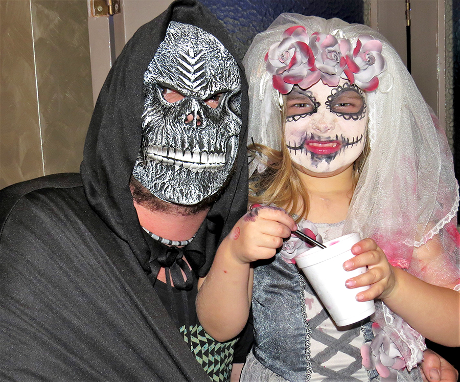 HALLOWEEN: Chris and Ruby Dibley.
