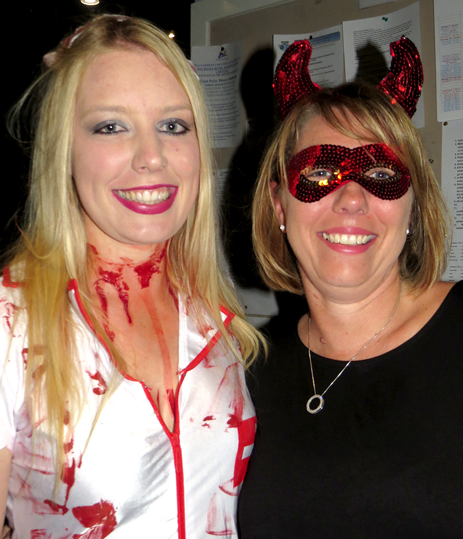 HALLOWEEN: Mikaela Tooze and Melissa Smith.
