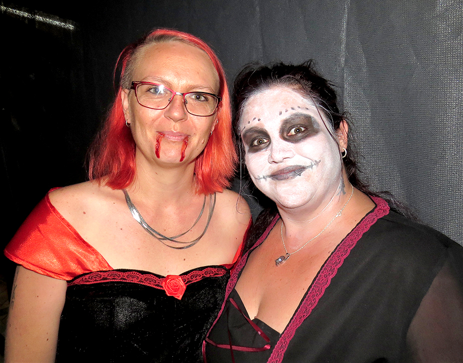 HALLOWEEN: Kelly Williams and Deb Ryan.