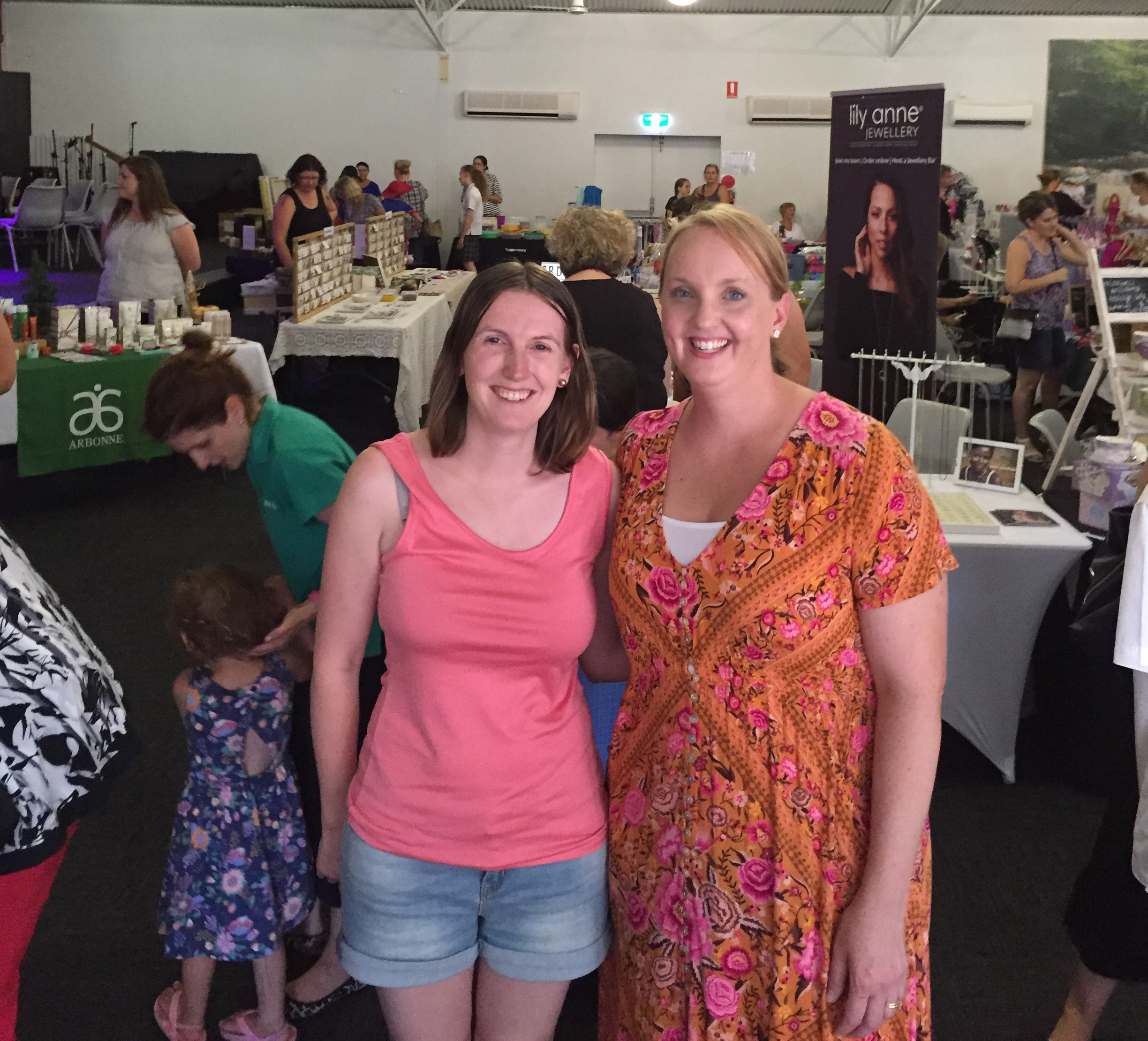 Market organisers Julie Walter and Karni Doherty at the successful Christmas Pop Up event.