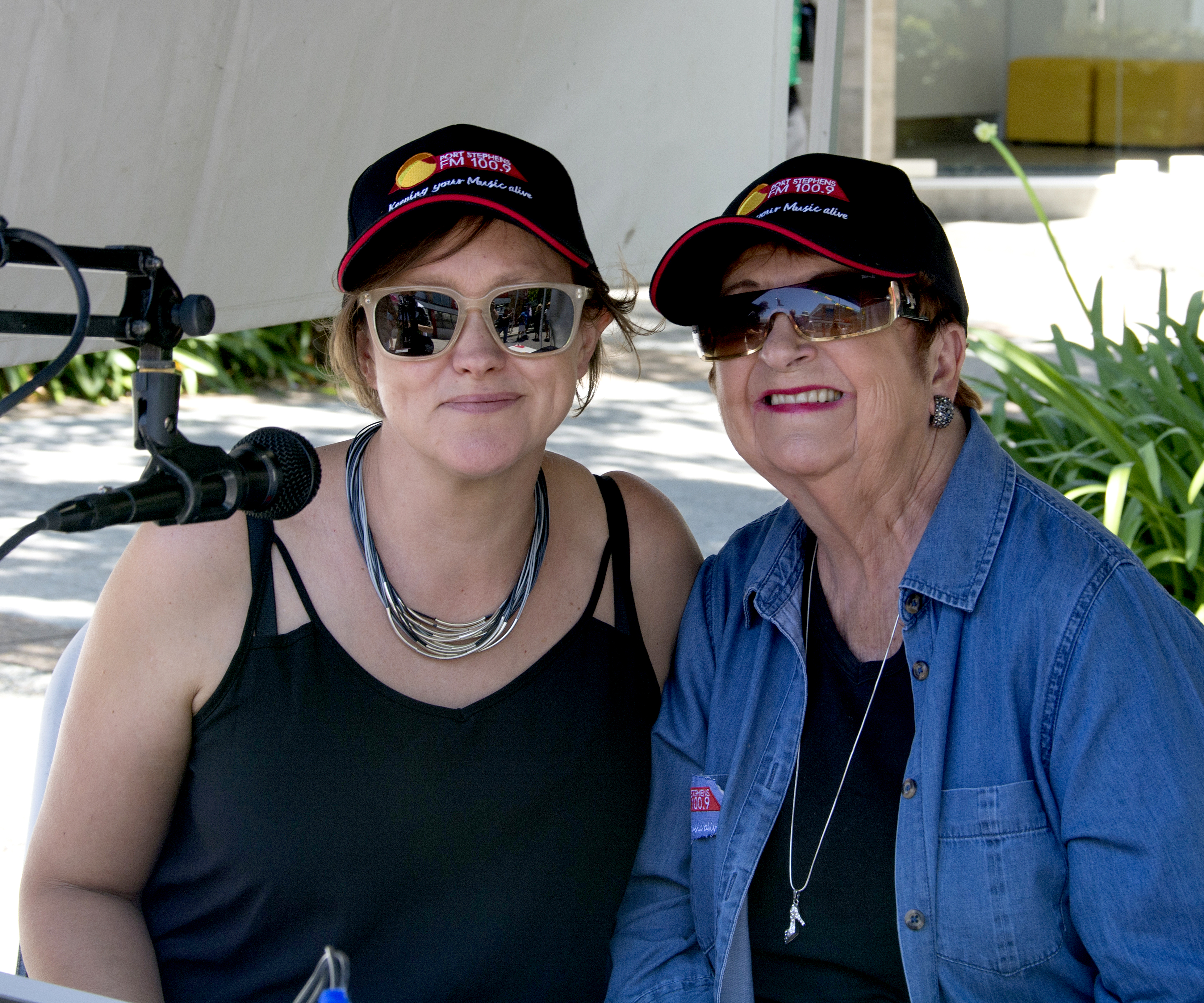 Jan Stone and Tania of Port Stephens FM.