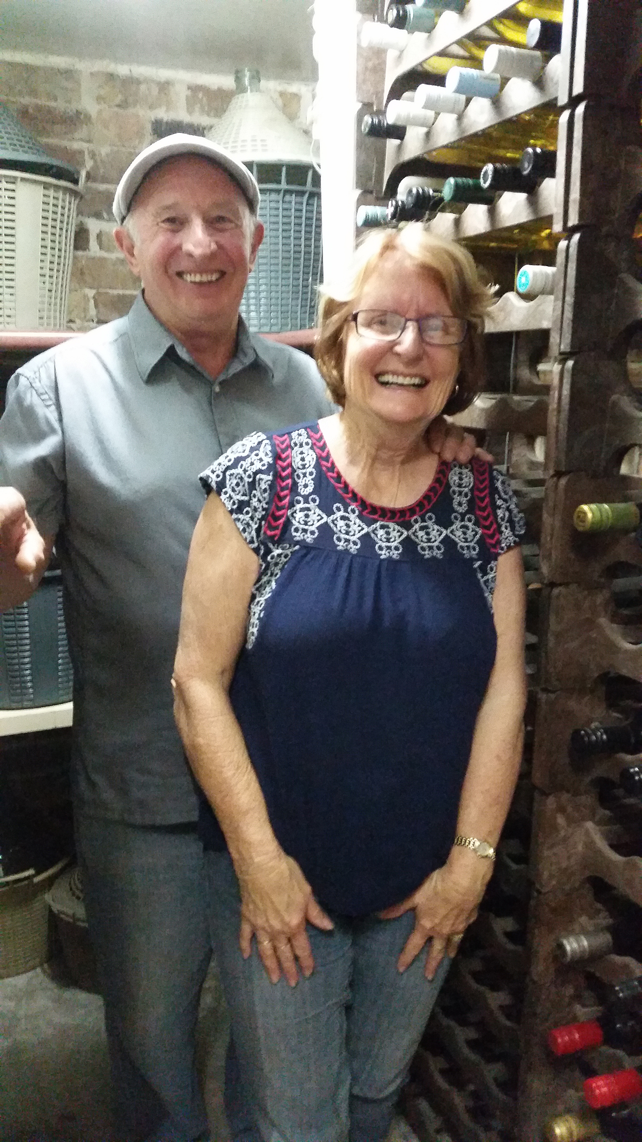 WINE CELLAR: Joe and Muriel Dalli.