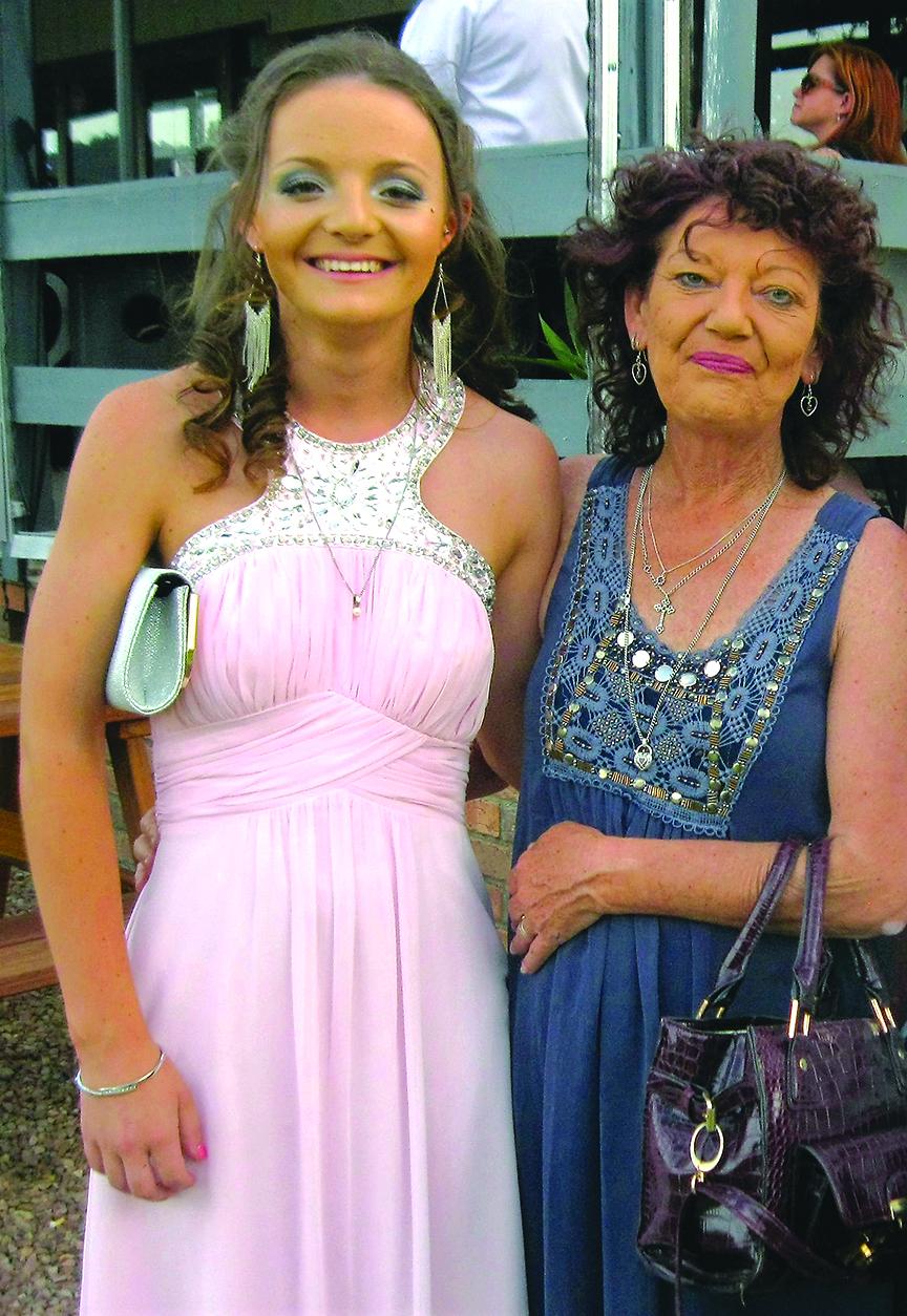FORMAL: Ebony Ding from Bundabah with her mum Dalene.