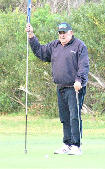 Twilight Golfing Winner: Social Club President Jim McDonald.