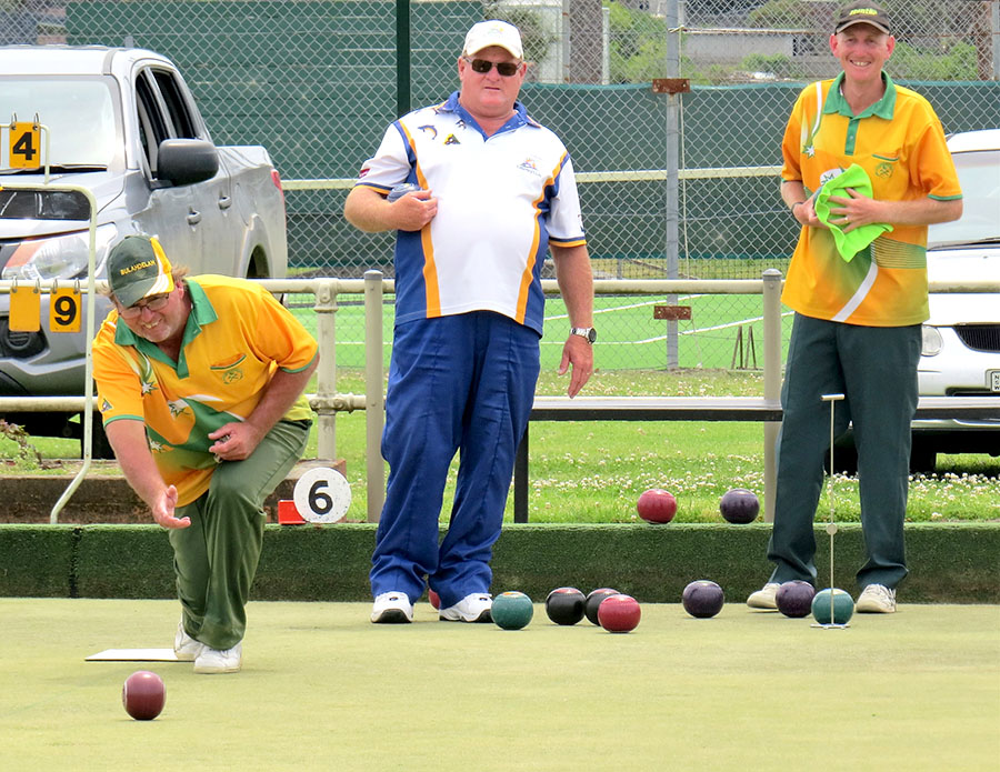BOWLS: Sean Merrick from Tea Gardens and Shane Reed from Bulahdelah.
