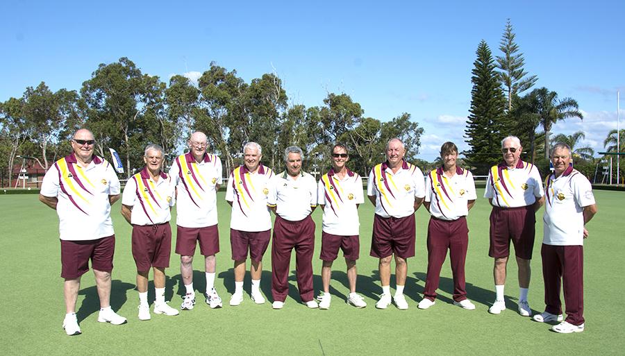 Team 2 - Winning Team Fingal Bay Bowling Club: Des Roberts, Michael Hoban, Arthur Nowland, Graham Weekes, Ray Latif (umpire), Dave (Willy) Williams, Jim Partridge, John Gilligan, Ron Cowie, Dale Watterson.