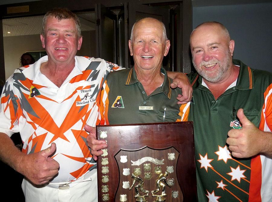 WINNERS: Greg Felton, Gary Alnum, Glenn Chandler.