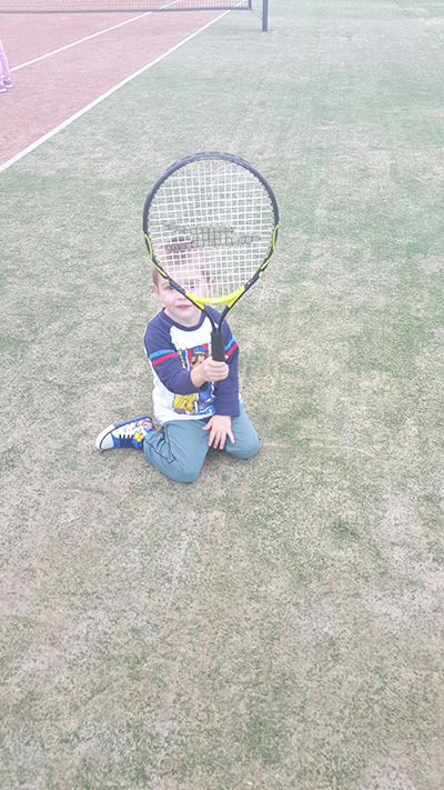 Declan Peck started his love for Tennis at a young age