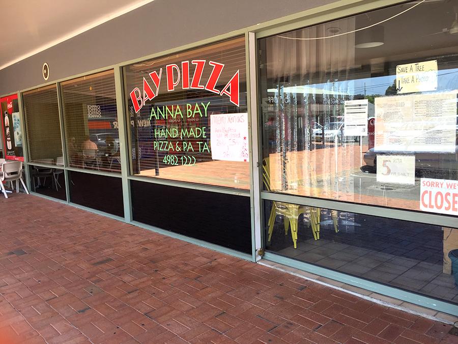 Bay Pizza, Anna Bay, was the proposed premises for Anna Bay IGA Plus Liquor.