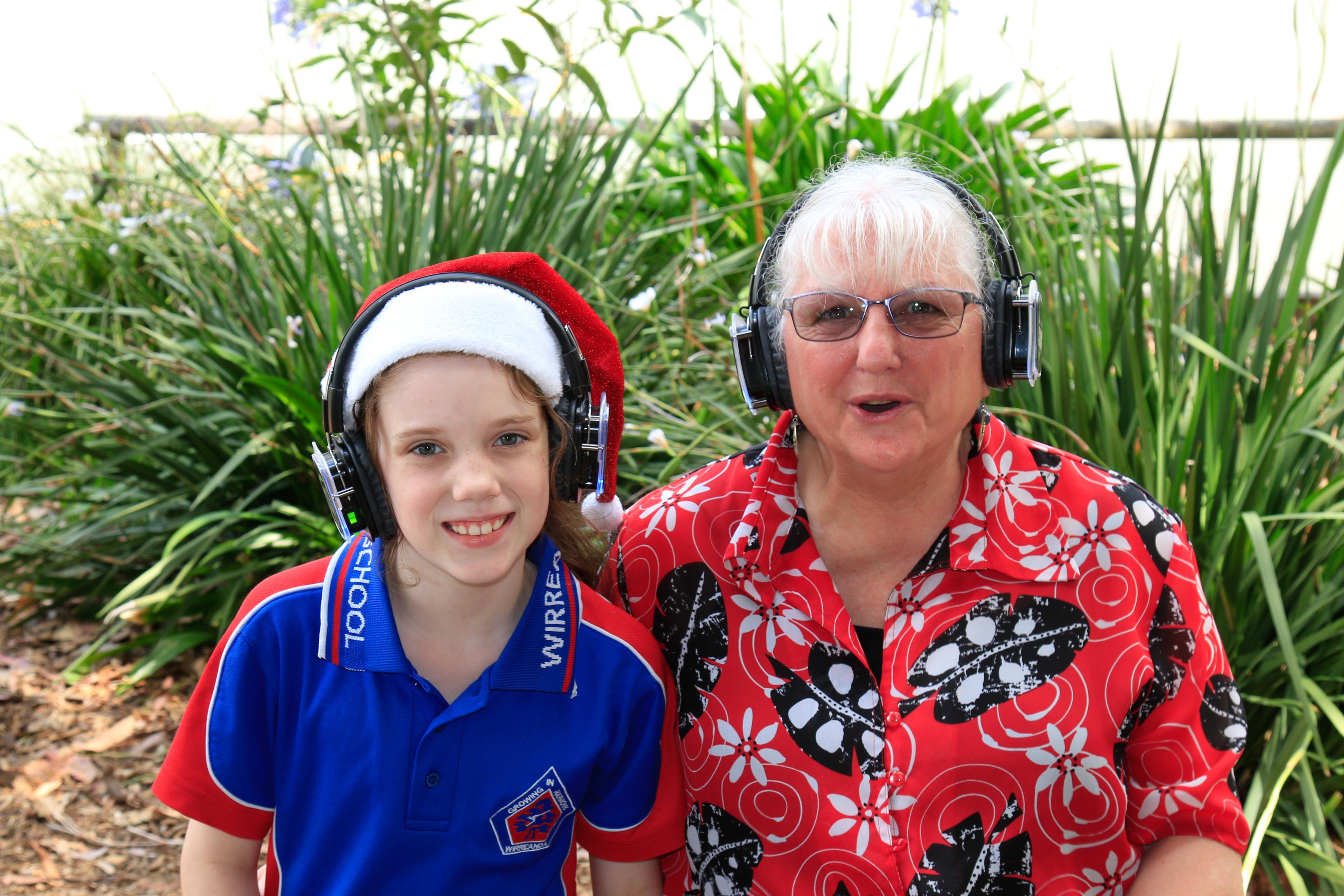 Jordyn Booth and Grandma.