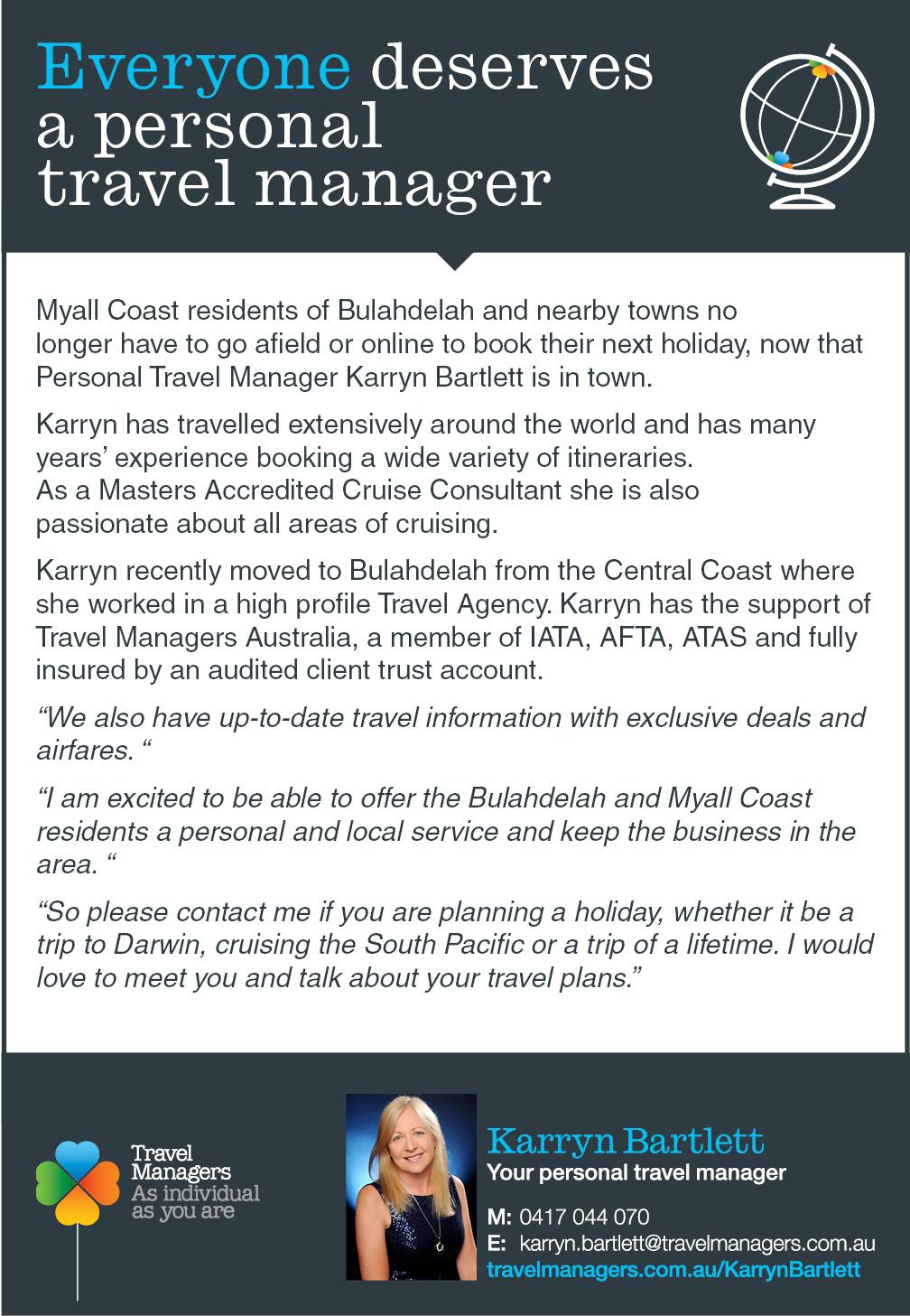Karryn Bartlett Travel Manager