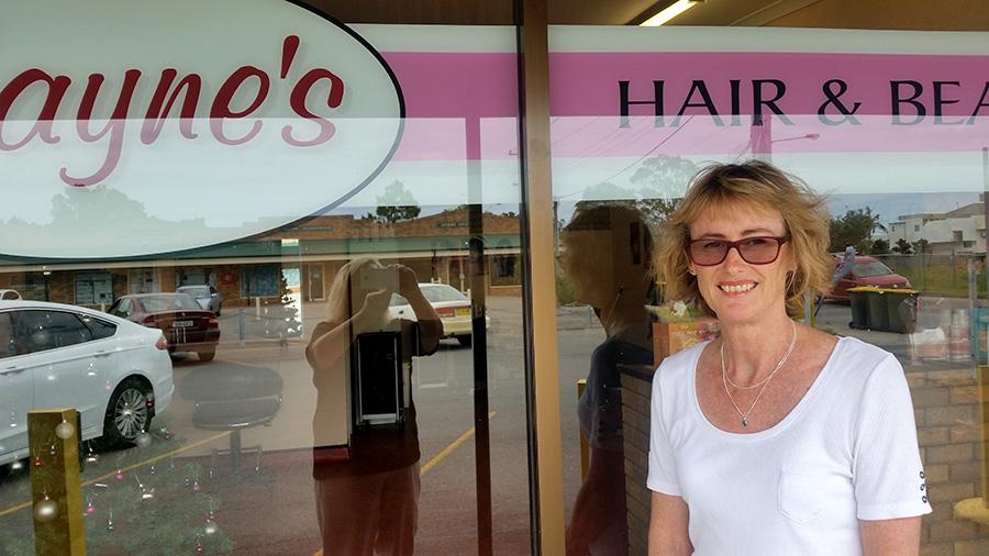 CUT ABOVE THE REST: Hairdresser Jayne Ireland.