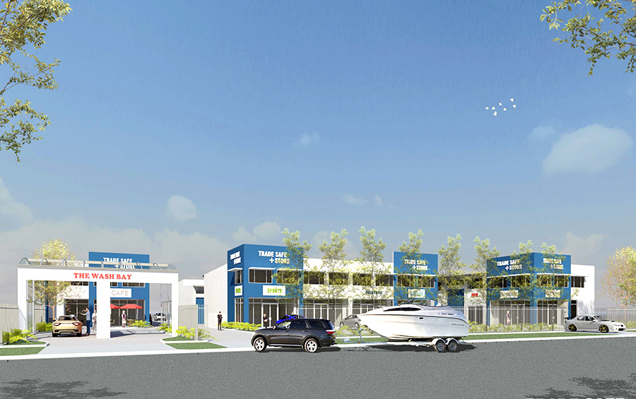 Artist's Impression of business park, street view.