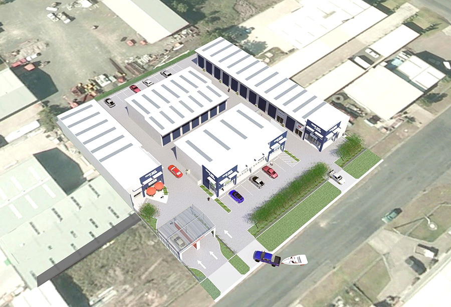 Artist's Impression of business park, aerial view.