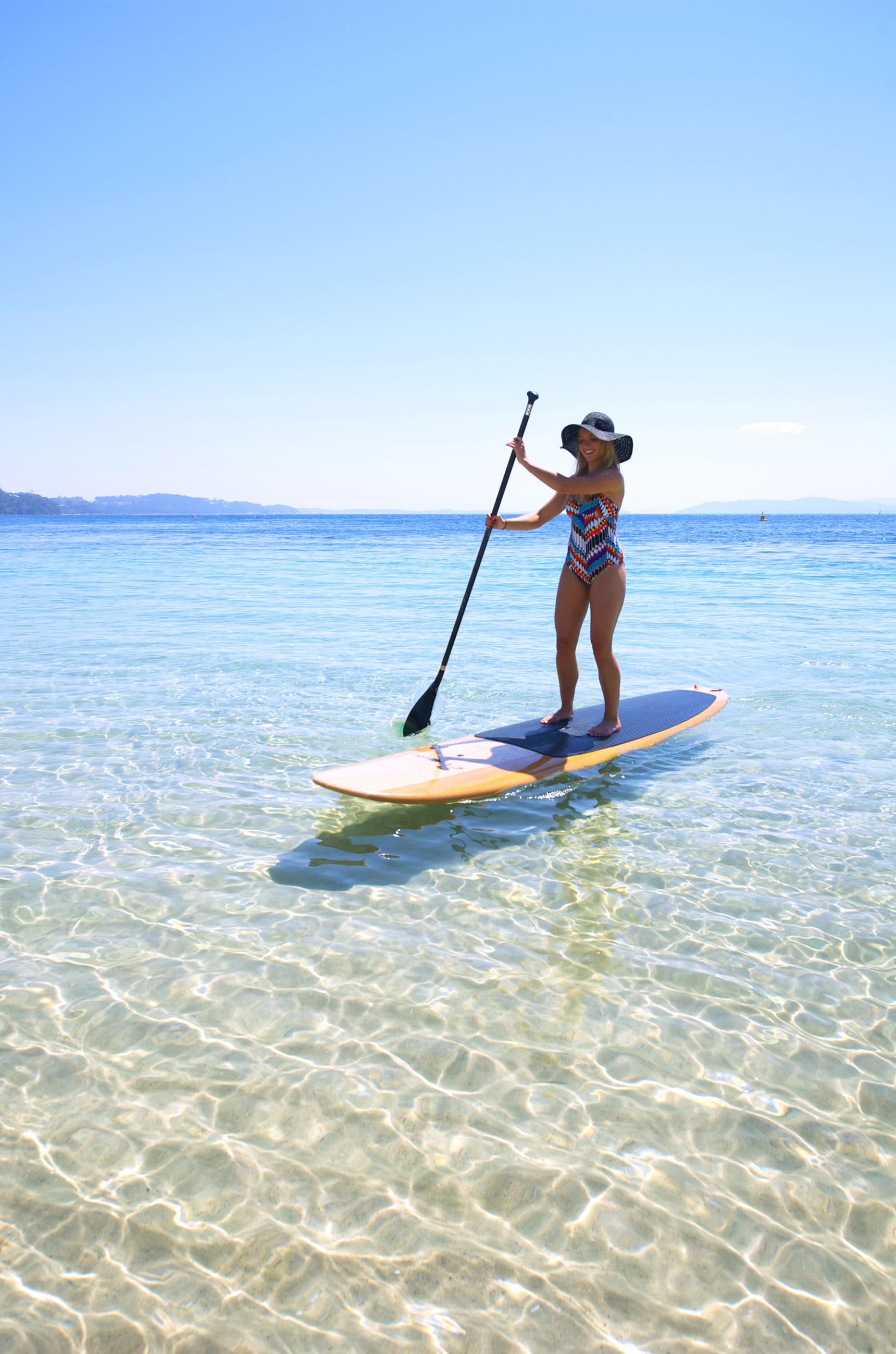 Nelson Bay is perfect for Stand Up Paddleboarding
