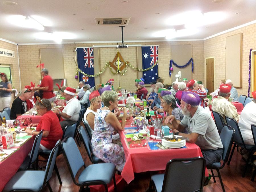 CHRISTMAS DAY LUNCH: Masonic Hall, Tea Gardens.