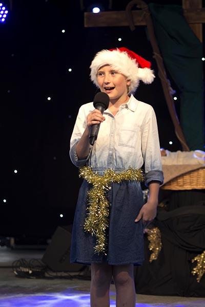 Anique De-Vries singing I want a hippopotamus for Christmas