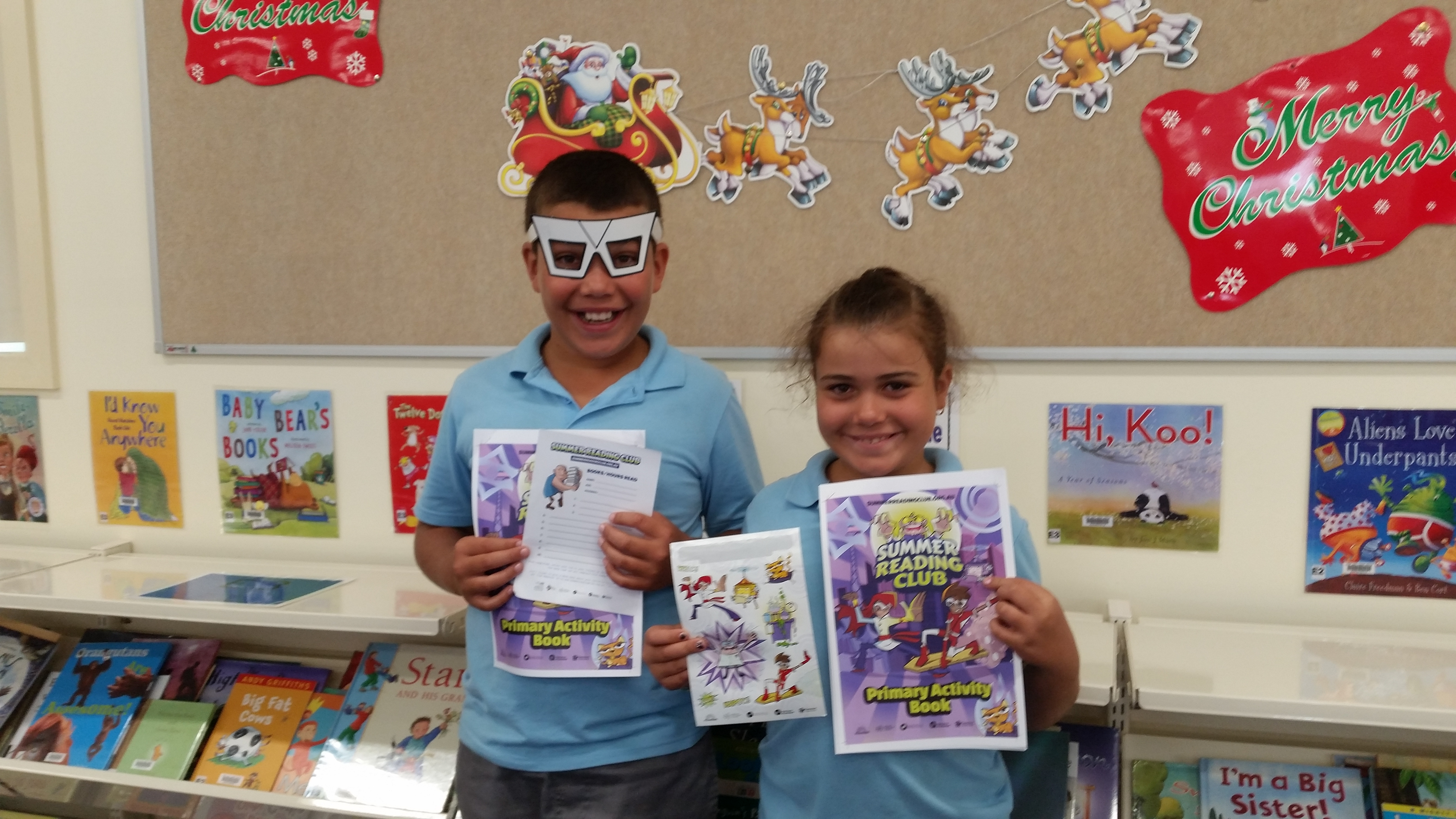 SUMMER CLUB READERS: Tye and Claire Carter