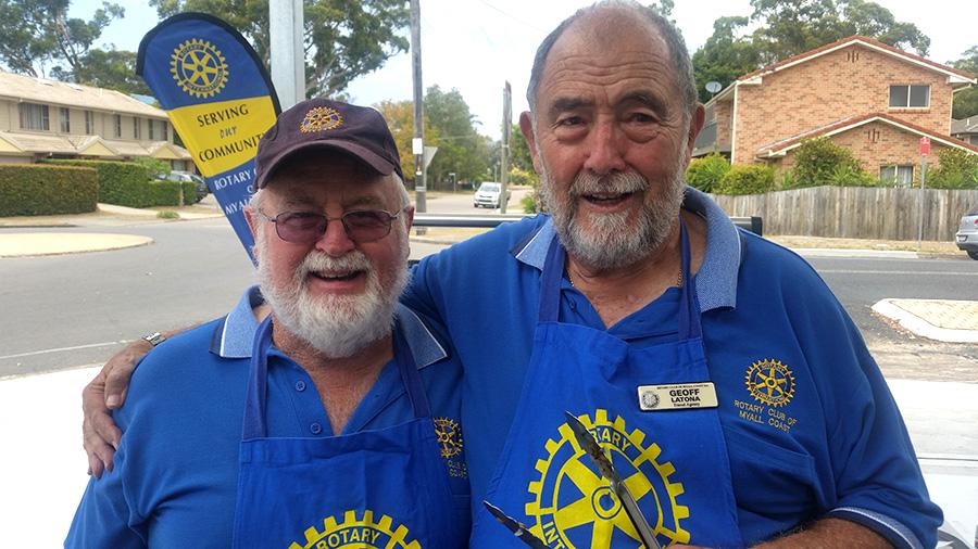 ROTARY VOLUNTEERS: John Taylor and Geoff Latona